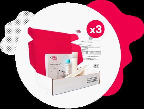 PCR Test Kit (Triple Pack)